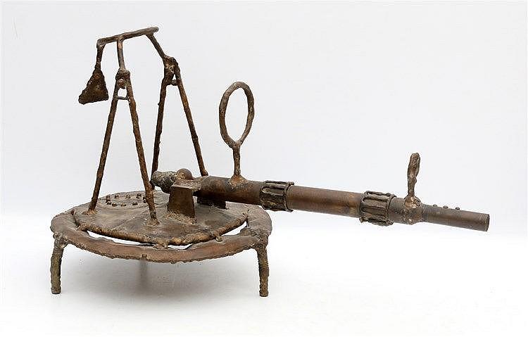Kor Bekker (1928-1980) A metal sculpture. 'Zonneschieter'. Unsign