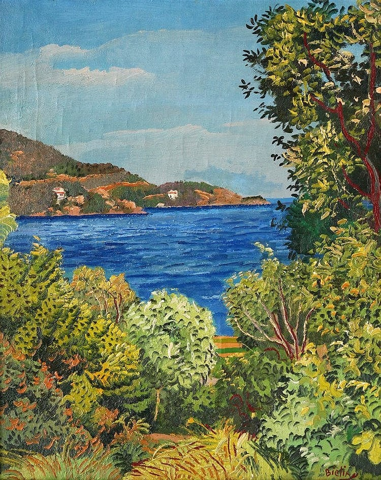 Herman Bieling (1887-1964) Côte d'Azur. Signed lower right. Doek