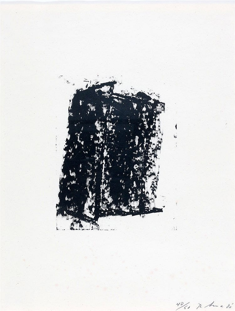 Richard Serra (1939-) 'Sketch #5'. Signed and dated '80 lower rig