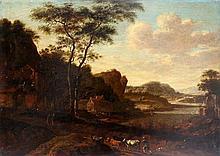 Navolger van Willem Schellinks (1627-1678) Italianate landscape w