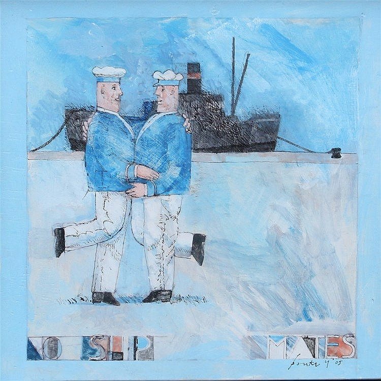Bouke Ylstra (1933-2009) No ship mates'. Signed and dated '05 low