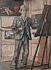 Willem Westbroek (1918-1998) A self portrait. Verso signed. Board