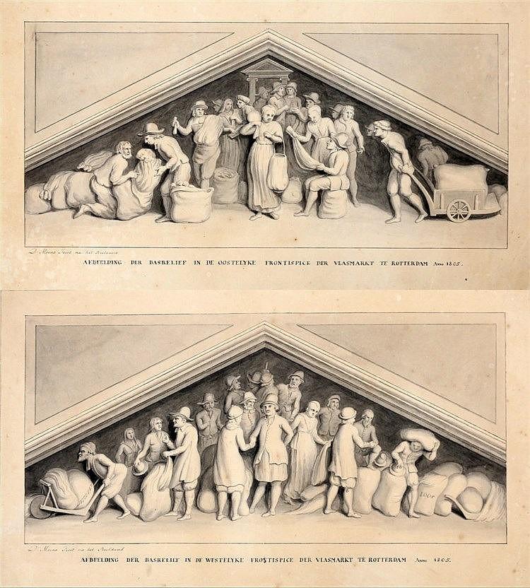 David Moens (1757-1832) 'Afbeelding der basrelief in de westelyke