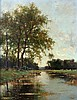 Victor Bauffe (1849-1921) Landscape with a ditch. Signed lower ri, Victor Bauffe, €0