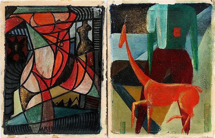 Toegeschreven aan Klaas Boonstra (1905-1999) Two works in oil. A