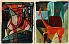 Toegeschreven aan Klaas Boonstra (1905-1999) Two works in oil. A, Klaas Boonstra, €0