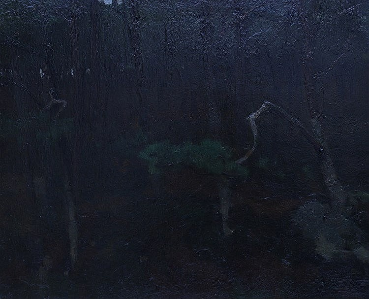 Willem Witsen (1860-1923) Inside the forest. Signed lower right.