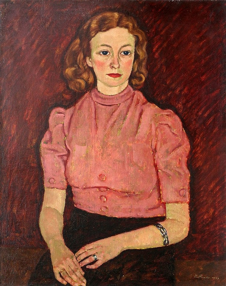 Louis van Roode (1914-1964) Portrait of Coby Doeleman. Signed and