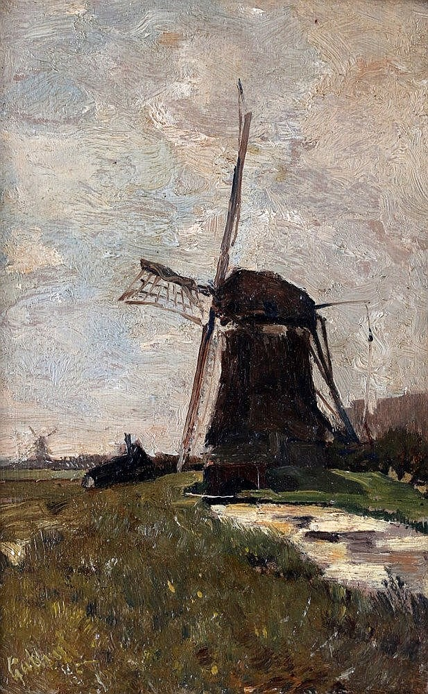 Paul Joseph Constantin Gabriël (1828-1903) Mill in a landscape. S