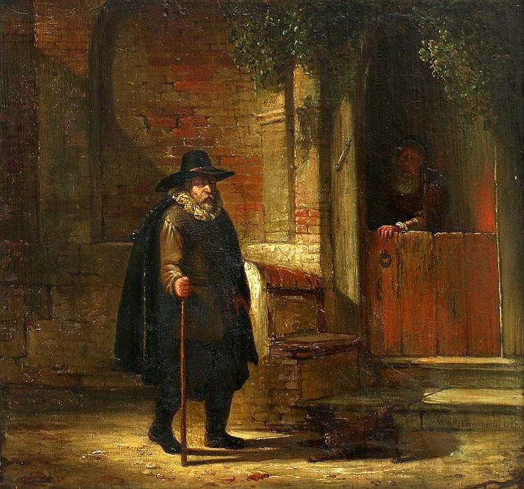 Willem Jodocus Mattheus Engelberts (1809-1887) A man in front of