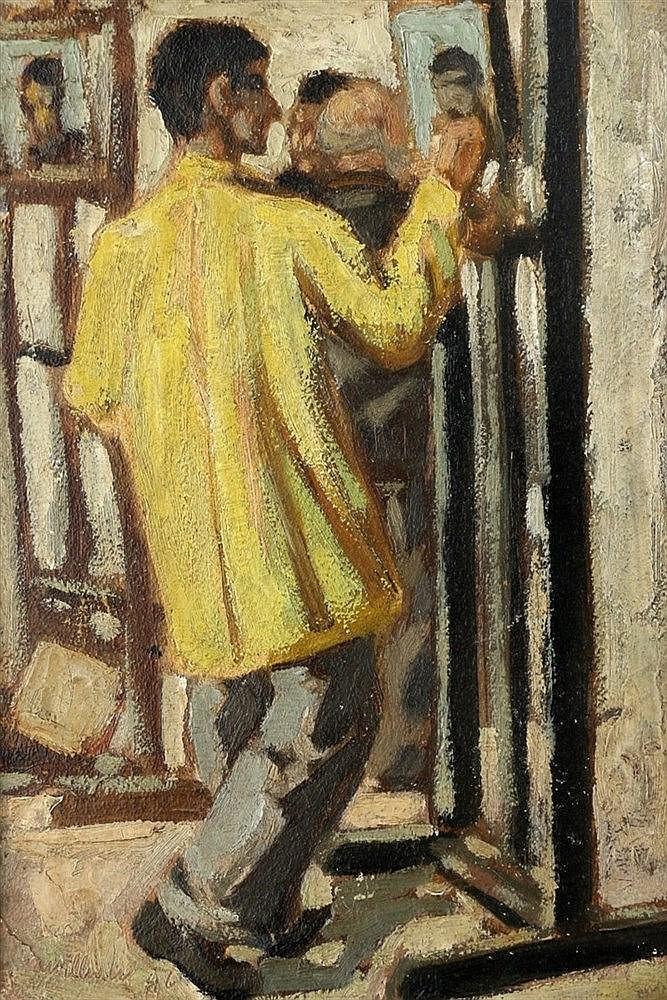 Willem Westbroek (1918-1998) Portrait of Hans Katen. Signed and d