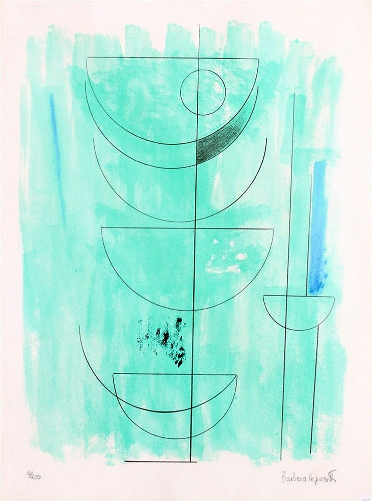 Barbara Hepworth (1903-1975) Green man' (1972). Signed in pencil