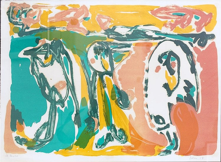 Asger Jorn (1914-1973) Hautes Pyrénées'. Signed and dated '69 in