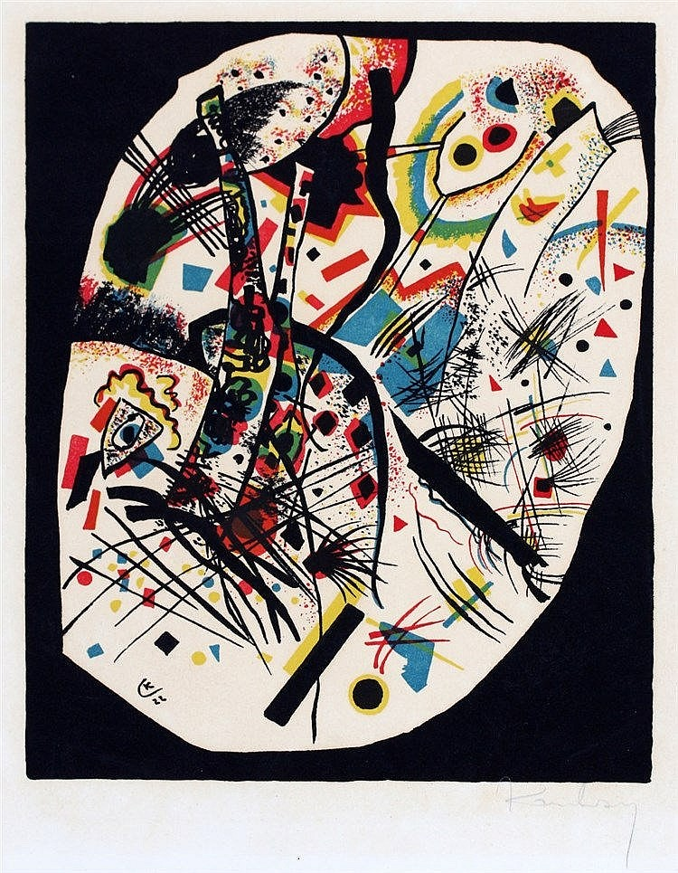 Wassily Kandinsky (1866-1944) Kleine Welten'. Signed in pencil lo