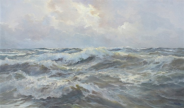 Meeuwis van Buuren (1902-1992) A seacape. Signed lower right. Doe