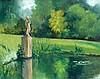 Jord van Calker (1919-1987) 'Tuin van de VARA'. Signed lower righ, Jordanus Franciscus Hubertus