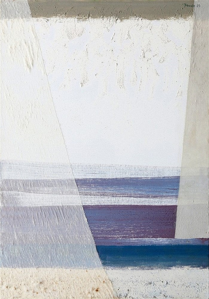 Frantisek Janula (1932-) Sea'. Signed and dated '84 upper right.