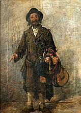 Hipolit Lipinski (1846-1884) Jewish merchant. Signed lower right.