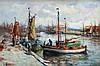 Evert Moll (1878-1955) The harbour of Scheveningen. Signed lower, Evert Moll, €0
