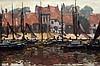 Reinier Sybrand Bakels (1873-1956) The harbour of Stavoren. Signe, Reinier Sijbrand Bakels, €0