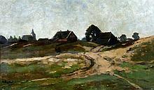 Nicolaas Bastert (1854-1939) A landschape with farmhouses near Mi
