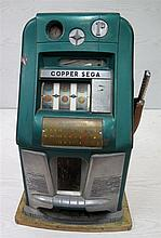 A one armed bandit, Copper Sega. Circa 1950. Not working. 46 x 3