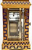 A gilt bronze part enamelled carriage clock. 20th century. 8,5 x
