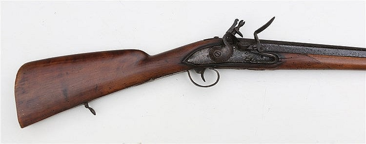 A percussion flintlock rifle. Associated, England, with 19th cen