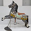 A wooden polychrome carousel horse. First half 20th century. Ho