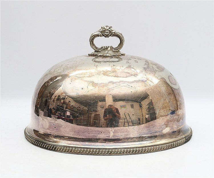 Silver plated cloche by Walker & Hall, Sheffield. Marked A. Afm