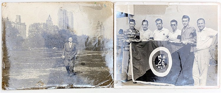 Two photographs made by Salas one with his stamp on verso. (2x)