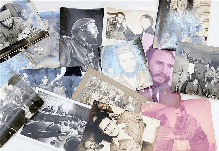 Fifteen photographs mainly of Fidel Castro. (15x)