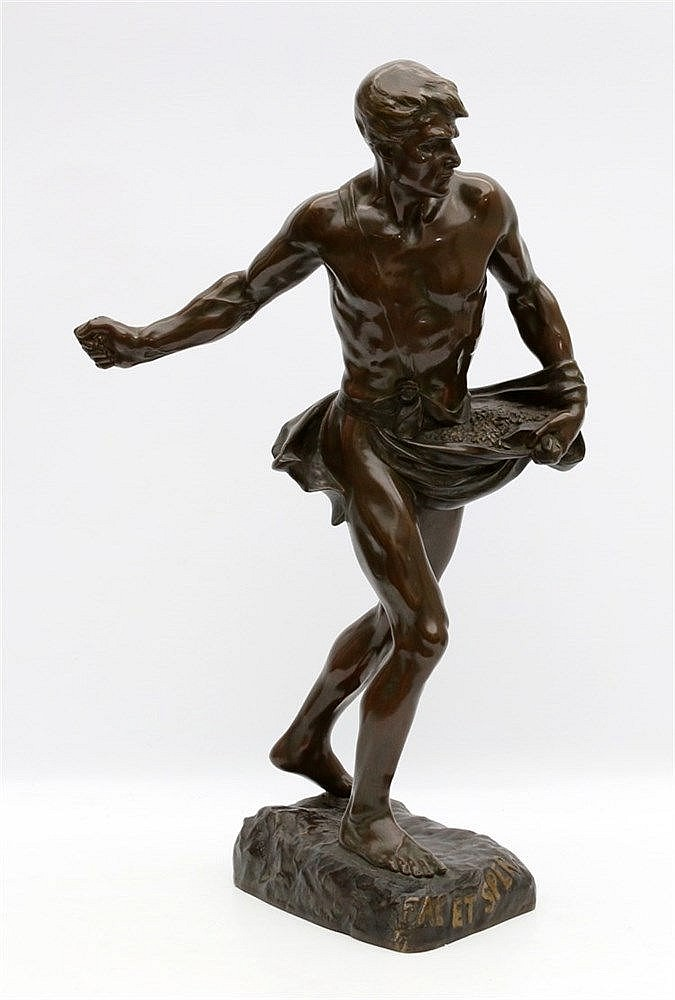 Toegeschreven aan Henri Desiré Gauguié (1858-1927) A bronze sculp