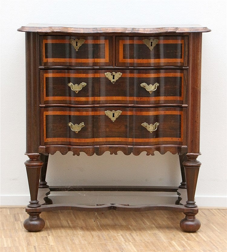 A side table. With drawers. In 'William and Mary' style. 19th ce