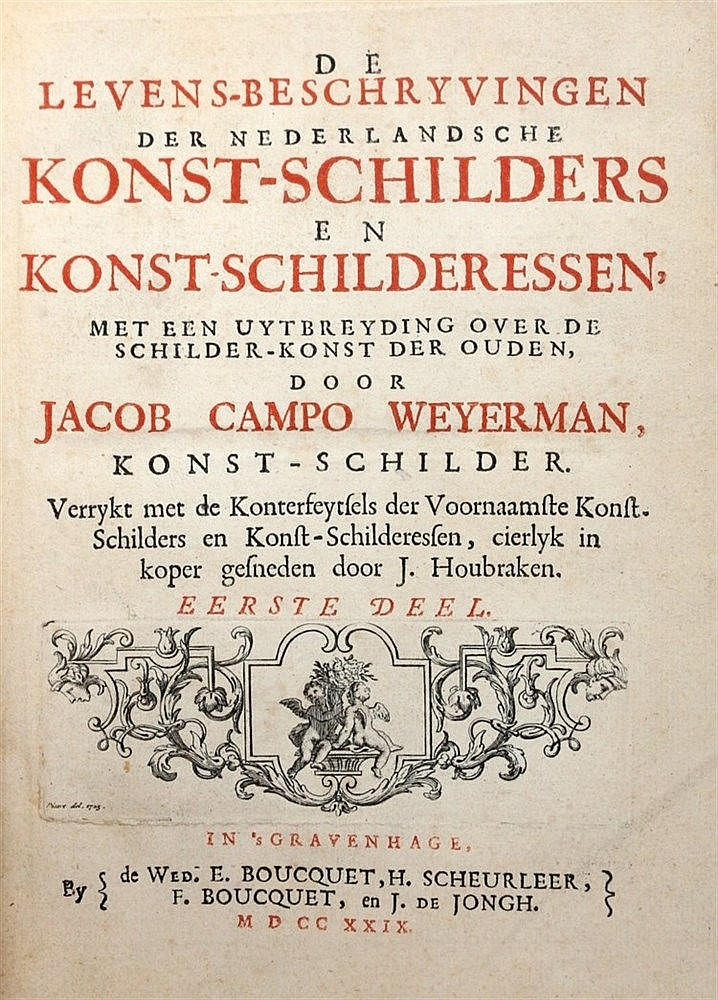[Artists' Manual] Jacob Campo Weyerman. De Levens-beschryvingen