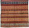 A tapis cloth with gold embroidery. Lampung, South Sumatra. With