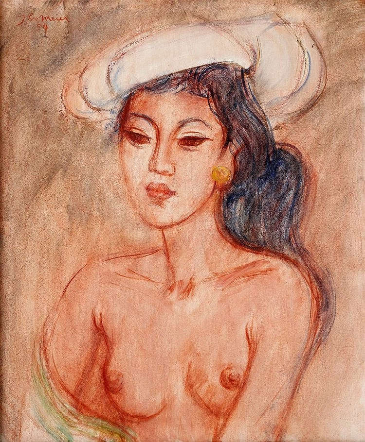 Theo Meier (1908-1982) A young Balinese woman. Signed and dated '
