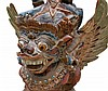A polychrome wooden sculpture. Garuda, Bali. 2nd half 20th centu