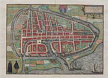 Map of Rotterdam by L. Guicciardini. Coloured by hand. Ca. 1620.