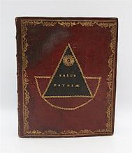 [Freemasonry] Decorated leather binding from the later half of t