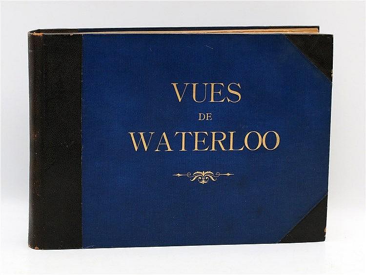 [Napoleon] Vues de Waterloo. Composed album with prints, picture