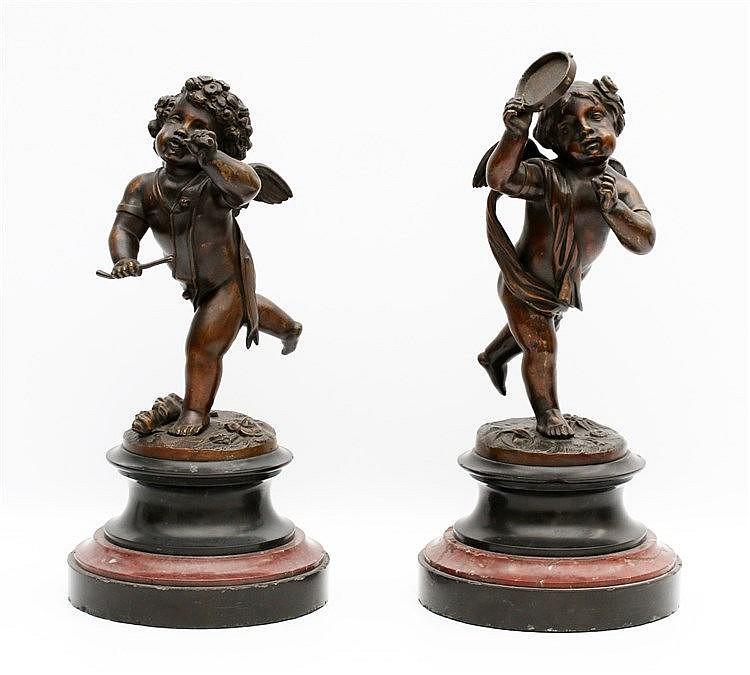 Toegeschreven aan Franz Iffland (1862-1935) Two bronze sculptures