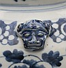 A Chinese blue and white jar and cover decorated with scrolling