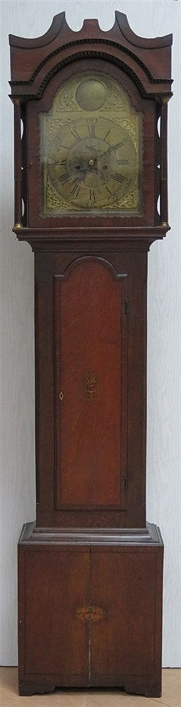 A walnut longcase clock. Thomas Carnarvon, England, 19th century
