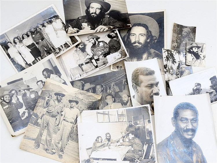 14 photographs of commanders of the Cuban revolution. (14x)