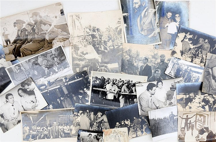 23 photographs with Fidel Castro. Various periods, various sizes