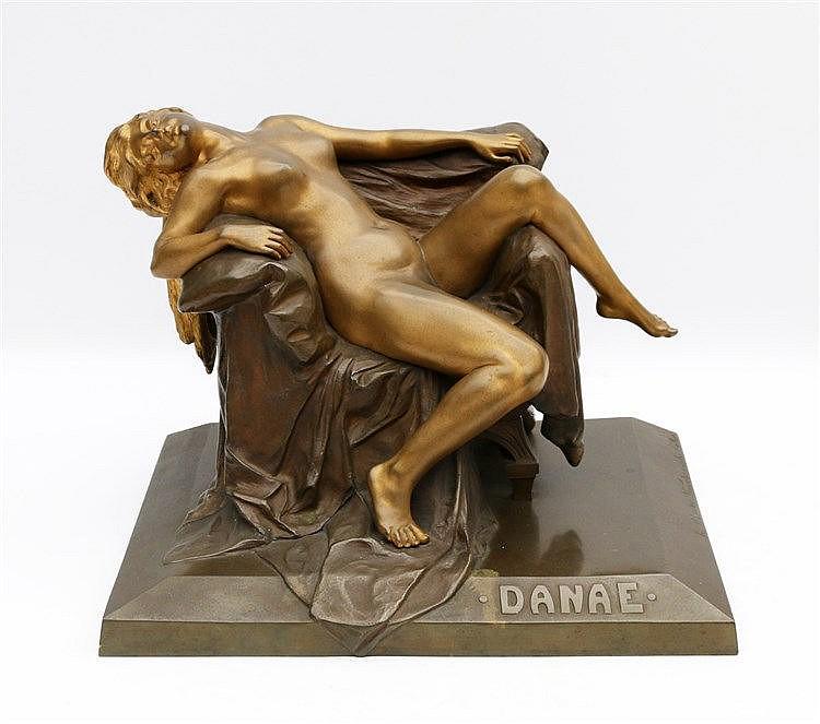 Paul Ludwig Kowalczewski (1865-1910) A bronze sculpture. 'Danae'.