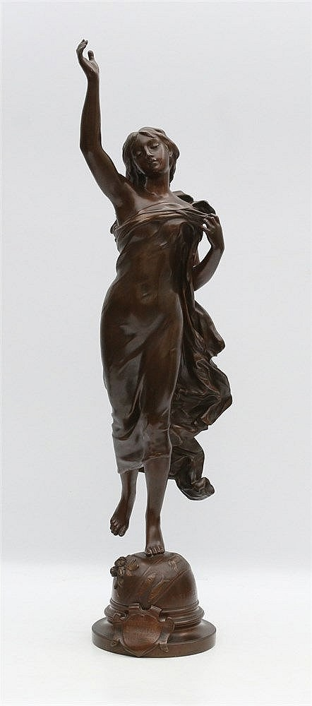Adrien Etienne Gaudez (1845-1902) A bronze sculpture. 'Etoile du