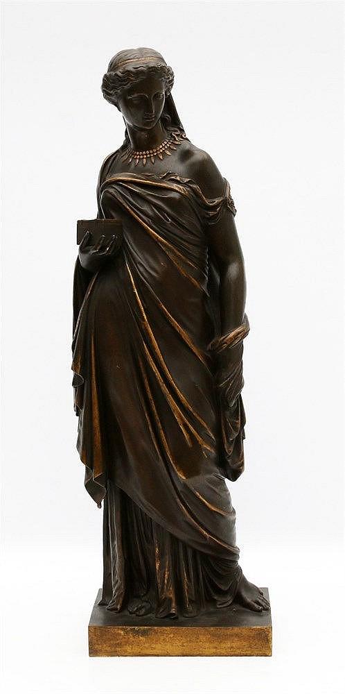 Naar Eugène Antoine Aizelin (1821-1902) A bronze sculpture. 'Pand