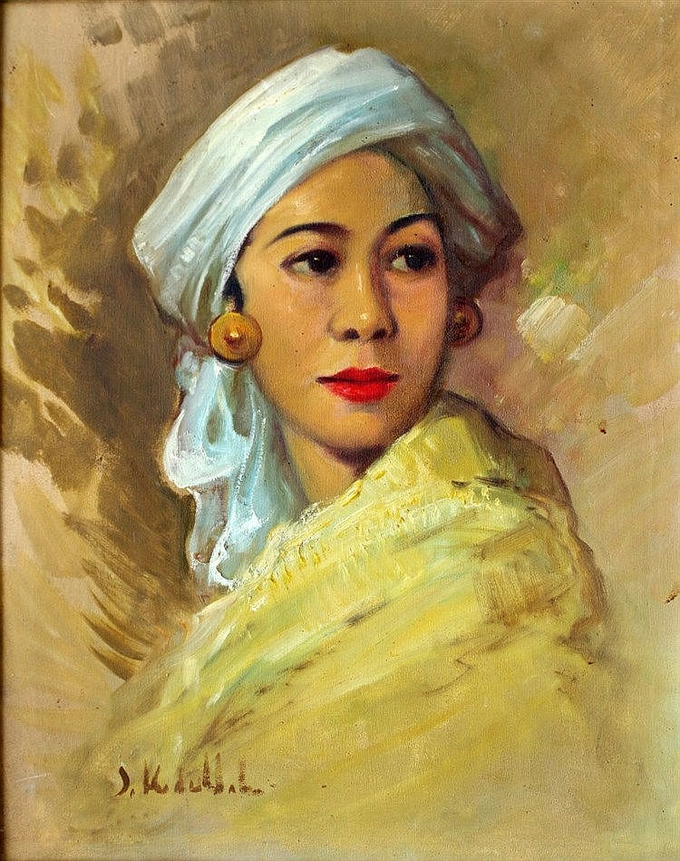 Surjosoebroto Abdullah (1878-1941) Portrait of a woman. Signed lo